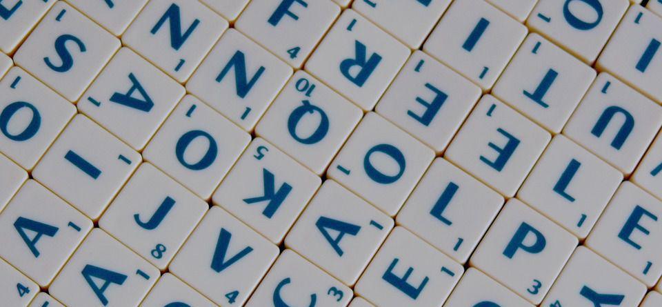 Schrijf in stijl - Scrabble banner